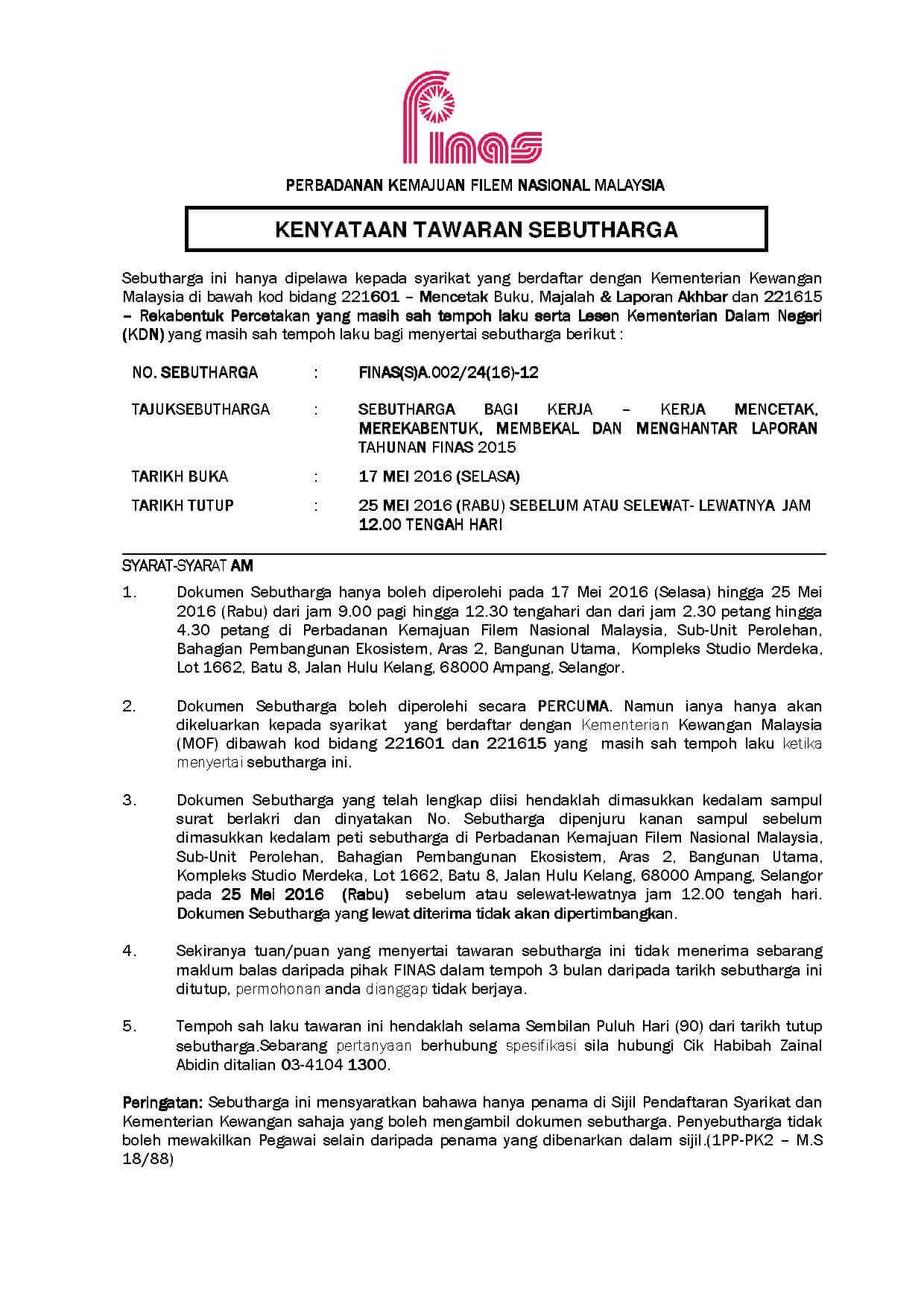 KENYATAAN TAWARAN 12-1