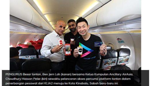 Tonton Jalin Kerjasama bersama ROKKI untuk 'In-Flight entertainment Access' Drama dan Filem Tempatan