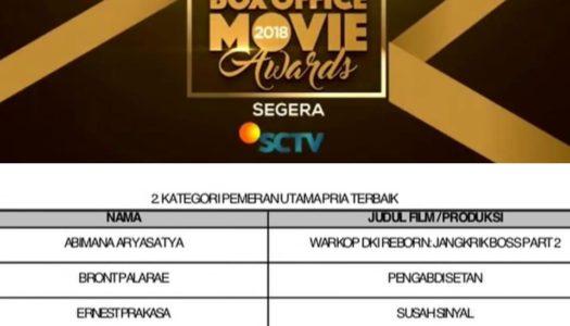 BRONT PALARAE TERIMA PENCALONAN AKTOR TERBAIK DI INDONESIA BOX OFFICE MOVIE AWARDS 2018 (IBOMA 2018)