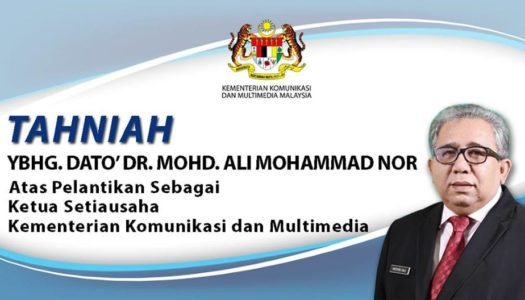 TAHNIAH YBHG. DATO' DR. MOHD.ALI MOHAMMAD NOR