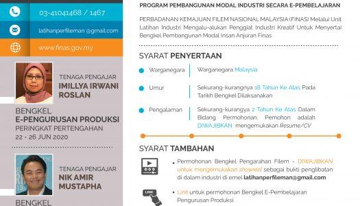 DAFTAR SEGERA UNTUK BENGKEL E-PEMBELAJARAN PENGURUSAN PRODUKSI & BENGKEL PENGARAHAN FINAS