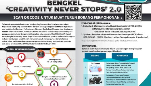 HEBAHAN PROGRAM KHAS PELAKSANA MODAL INSAN: BENGKEL 'CREATIVITY NEVER STOPS' 2.0