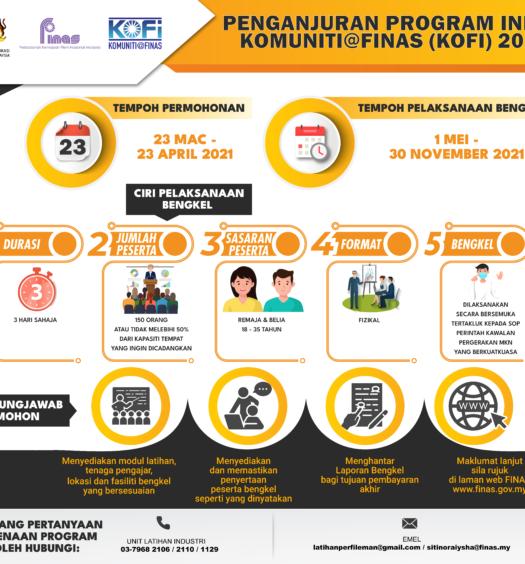 POSTER PROGRAM INDUK KOMUNITI@FINAS (KOFi) 2021