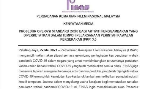 KENYATAAN MEDIA FINAS_SOP PENGGAMBARAN DALAM STUDIO DIPERKETATKAN 22 MEI 2021