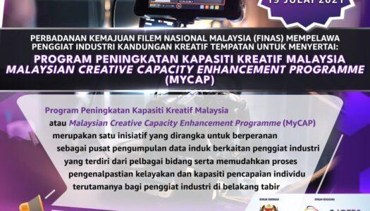 DAFTAR SEKARANG UNTUK MENYERTAI PROGRAM PENINGKATAN KAPASITI KREATIF MALAYSIA (MYCAP) BAGI KEAHLIAN INDIVIDU